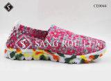 Moda Mujer colorida zapatilla caminar Zapatos de tejido