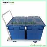 90L de plástico de gran capacidad de almacenamiento conveniente mover Tote