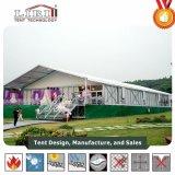 de Markttent van het Huwelijk van de Breedte van 15m met de Muur van het Glas en de Volledige Decoratie van de Lijn voor de Partij van het Huwelijk van 500 Mensen