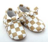 Grade de Bebé moda Calçado Casual Piscina Kids Bow calçado de couro