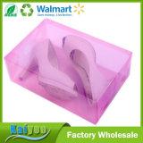 Rectángulo de almacenaje plástico del zapato de la venta al por mayor DIY del color de rosa de encargo del diseño