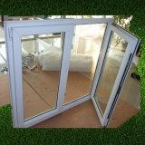 Flügelfenster-Fenster der doppelte Scheiben-Außenöffnungs-UPVC