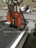 6.0Kw husillo horizontal con tabla de vacío 1325 Máquina Router CNC para carpintería de madera, hormigón encofrado, mobiliario moderno, cuarto de baño Decoración