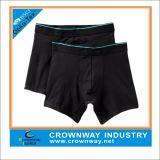 Para hombre llano Negro Gris cortos de algodón ropa interior del boxeador