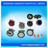 Die Casting Engrave Color Esmalte Cufflinks Custom Logo Shape