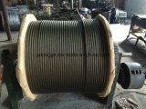 Веревочка стального провода 19*7 высокого качества Non-Поворачивая