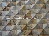 Azulejo natural de la pared del cuarto de baño del mosaico de la pared de la sala de estar del mosaico del recubrimiento de paredes del azulejo de mosaico del travertino