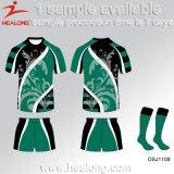 Desgaste júnior da liga do rugby do Sublimation do Sportswear do serviço do ODM de Healong para a venda
