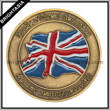 Zink Alloy 3D Coin met Two Sides Logo met Bronze Finish (byh-10806)