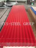 Teja PPGI Metal Hierro Tejado / prepintado galvanizado corrugado Roofing Sheet