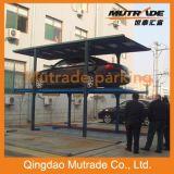 2 à 3 étages souterrains d'entraînement du moteur à quatre montants du système de stationnement mécanique