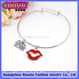 Form Silver Frog Charm Bangle Bracelet Jewelry für Kids #31454