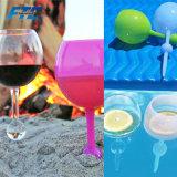 """Vetro su ordinazione stampato di Folating del vetro """"float"""" della spiaggia di vetro di vino di marchio"""