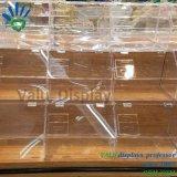 De acryl Vertoning van de Container van de Cake van het Suikergoed van het Voedsel voor Supermarkt