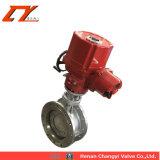 Venta de agua caliente de acero inoxidable del accionador eléctrico de control de flujo de la válvula de bola