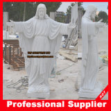 Het heilige Maagdelijke Standbeeld van Mary Marble Sculpture Mother Marble