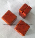 Малая коробка кольца Veneer Brown деревянная