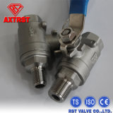 2PC Stainless Steel Floating M/F Thread Ball Valve