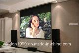 """133 """" pantalla eléctrica, pantalla casera del proyector del cine"""