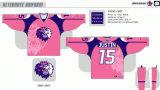 Personalizados com qualquer nome e Homens Mulheres Crianças Liga de Hóquei Americana Manchester reinantes 2007-2015 Hóquei no Gelo Jersey