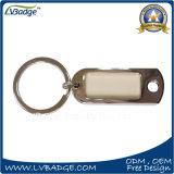 Catena chiave in bianco in lega di zinco di alta qualità