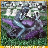 Het Standbeeld van de Vorm van de Auto van de Gravures van het Voertuig van de steen