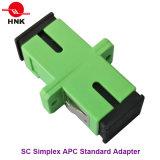 Sc Simplex Adaptador estándar de fibra óptica de plástico