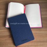 Polyuréthane texturée Organizer en cuir Journal Agenda Notebookavec bord en couleur