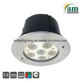 IP68는 18W LED 수중 빛을 방수 처리한다