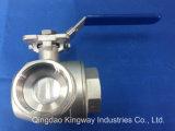 Válvula de Esfera de 3 Vias com lâmina de montagem direta