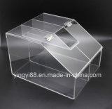 Оптовая акриловая Stackable коробка конфеты с прикрепленной на петлях дверью для легкой сервировки