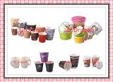 Бумажные стаканчики напитка 1.5-32 унций горячие и крышки (PC003)