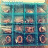 Latón de la lavadora de cobre de la junta de surtido / kit 16size 160PCS Seal Mat Box