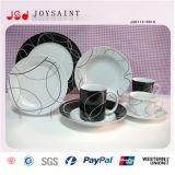Insieme di pranzo di ceramica di nuovo disegno con le tazze rotonde di Dishs dei piatti