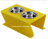 Atacado Plastic Acrylic Dog Feeding Bowl