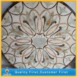 Medaglione Polished della pietra del marmo del getto di acqua per l'hotel, reticolo del medaglione