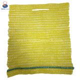 Kundenspezifische 50*80cm rote grüne gelbe PET Raschel Säcke