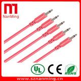 Mono 1/8 '' мужчин Ts 3.5mm тональнозвуковых к мыжским кабелям
