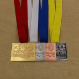 Médaille faite sur commande de Triathlon de récompense de sport en métal pour le concours de Triathlon