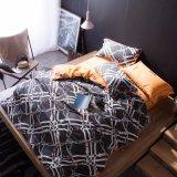 De afgedrukte Luxe van de Bladen van het Katoenen Bed van de Slaapkamer Vastgestelde