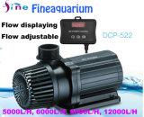 Aquarium bomba submersível 24V DC com fluxo ajustável e exibindo