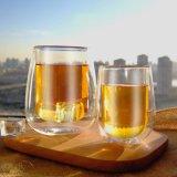Vetro di vino doppio di vetro della tazza di caffè della tazza del whisky