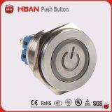 30mm à tête plate UL Ce super LED Interrupteur bouton poussoir métallique