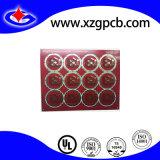 PCB vermelho de alta qualidade de lado duplo para câmera de vídeo