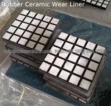 Respaldo de goma de baldosas de cerámica de alúmina de camisa de desgaste