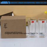 Подгонянная бутылка стеклянной чашки логоса стеклянная (одна коробка вклюает 6 частей)