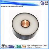 Medio de cable de alimentación de voltaje de aislamiento XLPE