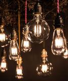 Bulbo corto retro de cristal del filamento del LED G95 4W 85-265V E26/E27