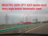 Megatro 220kv 2f11 Sjc4 doppelter Kreisläuf-schwerer Winkel-Spannkraft-Übertragungs-Aufsatz