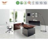 主任またはマネージャのためのL形のチェリーの商業オフィス用家具の机